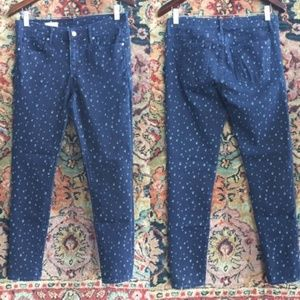 GAP Dotted Spotted Polka Dot Bleach Pattern Jeans